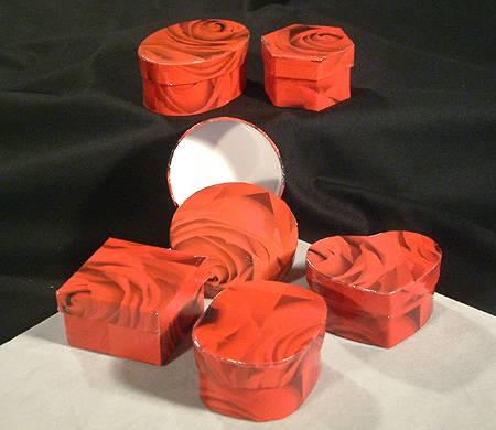 Kis díszdoboz - rózsás, többféle