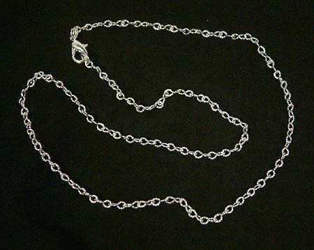 Nikkelmentes fém szemes lánc ezüst bevonattal tetszőleges hosszban