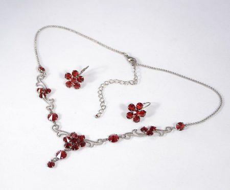 """""""Flamenco"""" kristály ékszergarnitúra - rubin színű"""