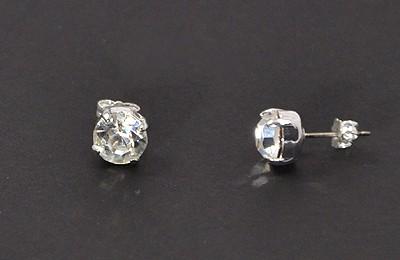 """Pötty"" fülbevaló - kristály, 8 mm"