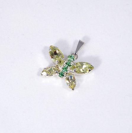 """""""Butterfly"""" medál - halványzöld és halványsárga"""