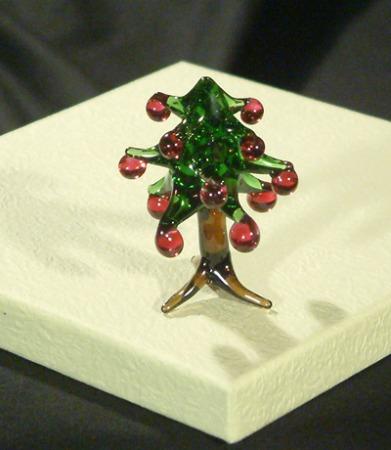 """""""Karácsonyfa"""" üvegfigura, nagy"""
