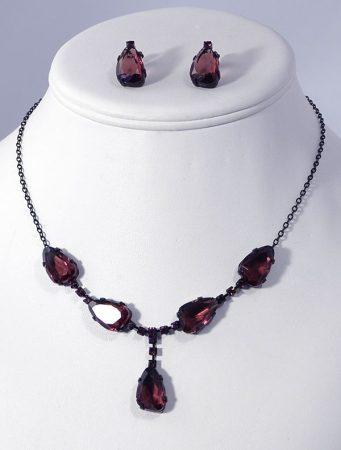 """""""Shiny stone"""" kristály ékszergarnitúra - ametiszt"""