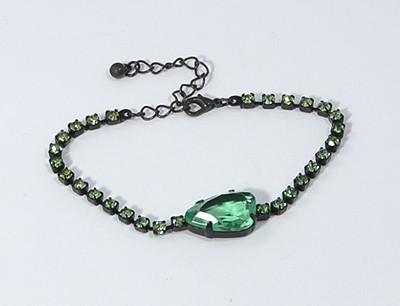 """""""Shiny stone"""" karlánc - zöld"""