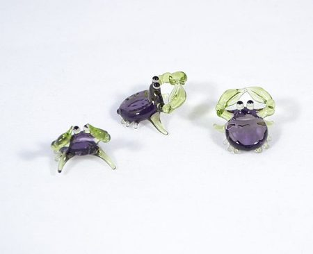 Tarisznyarák - miniatűr üvegfigura