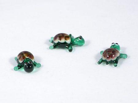 Teknősbéka - miniatűr üvegfigura
