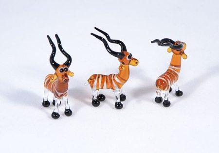 Kudu antilop - miniatűr üvegfigura