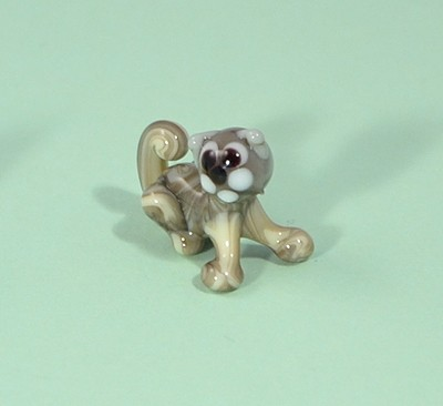 Ülő macska - miniatűr üvegfigura