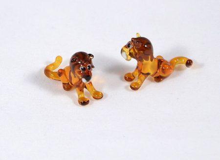 Oroszlán - miniatűr üvegfigura