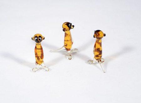 Szurikáta - miniatűr üvegfigura