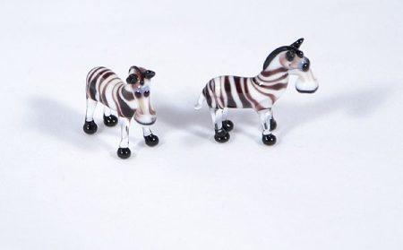 Zebra - miniatűr üvegfigura