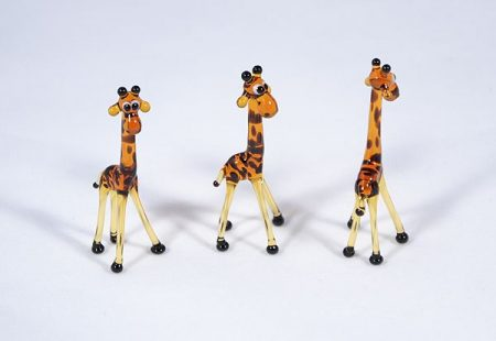 Zsiráf - miniatűr üvegfigura