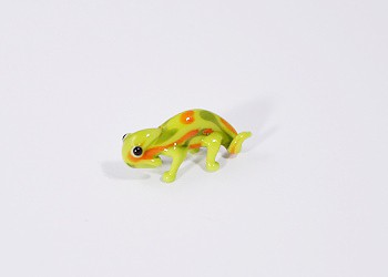 Kaméleon - miniatűr üvegfigura