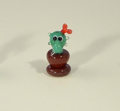 Kaktusz - miniatűr üvegfigura