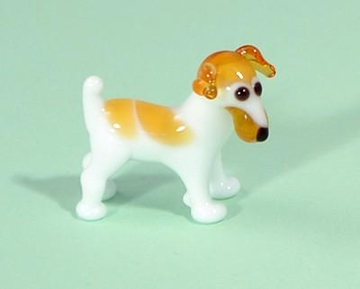 Terrier (Jack Russel) - miniatűr üvegfigura