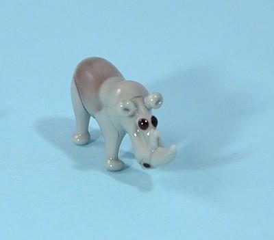 Orrszarvú - miniatűr üvegfigura