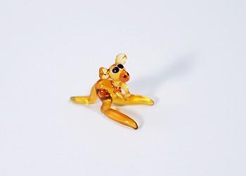 Kenguru - miniatűr üvegfigura