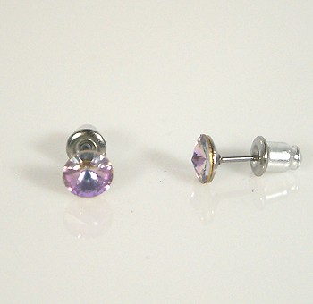 """Meteorit"" fülbevaló - crystal vitral light, 6 mm (Swarovski kristállyal)"