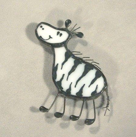 Zebra hűtőmágnes