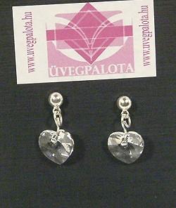 """""""Szeretlek"""" fülbevaló - kristály (Swarovski kristállyal)"""