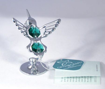 Kolibri figura Swarovski kristállyal