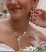 Függős esküvői ékszer