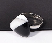 Panda egyedi üveg gyűrű