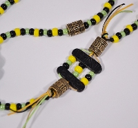 Elképesztő nyaklánc - zöld, sárga. fekete