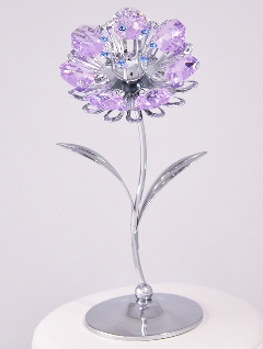 Virág Swarovski kristállyal
